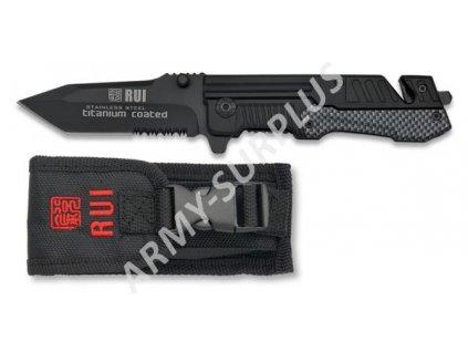 Nůž zavírací RUI 19286 záchranář černý