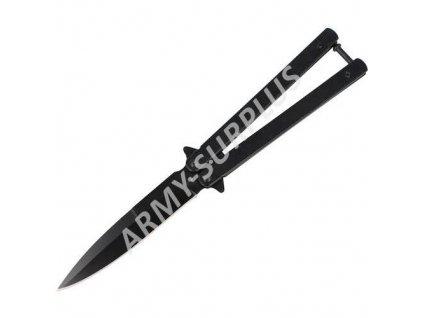 Nůž motýlek 02091 Albainox černý