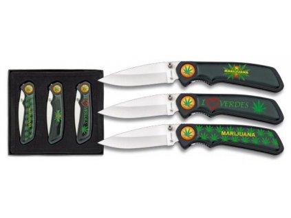 Nůž zavírací (sada) Albainox Marijuana (marihuana)10870