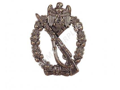 Odznak pěchoty (motorizované obrněné síly) Německo 1940 WWII Repro