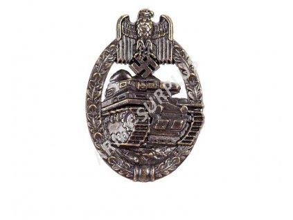 Odznak tankového vojska Německo 1939 bronz WWII Repro