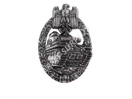 Odznak tankového vojska Německo 1939 stříbrný WWII Repro
