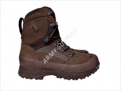Boty HAIX Combat High Liability Boots hnědé broušená kůže Velká Británie originál