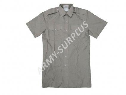 Košile Velká Británie stone (šedá) krátký rukáv