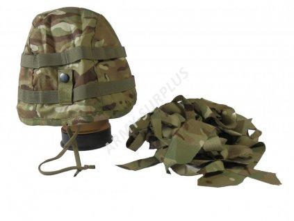 Potah (povlak,obal,převlek) na britskou helmu MK7 MTP Velká Británie (multicamo) s maskováním