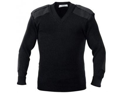 svetr--vecko--commando-black-v-neck-cerny-velka-britanie-original