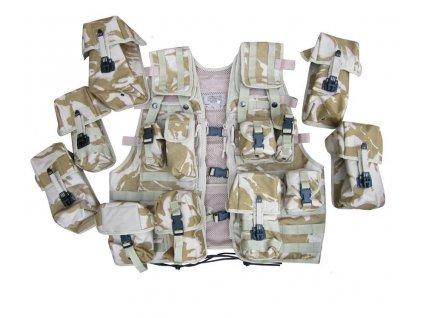 Taktická vesta britská LCTW Velká Británie desert DPM použitá original