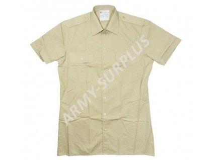 Košile Holandsko písková krátký rukáv