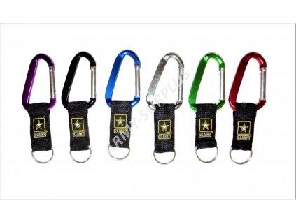 Karabina na klíče US ARMY barevná