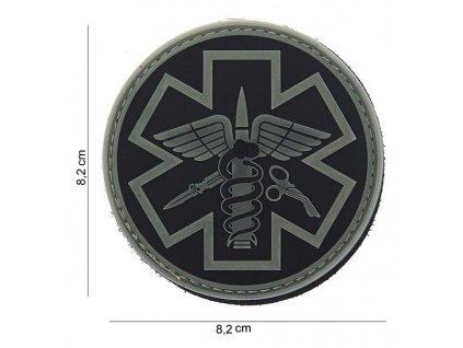 Nášivka 3D PVC Paramedic Emerson šedá