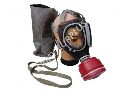 Plynová maska DDR typ ASM MLW s filtrem