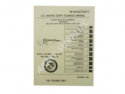 Technický manuál (kniha) USMC ke zbrani M16 originál