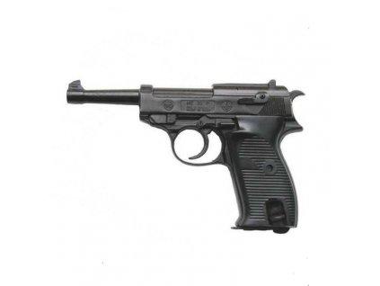 Plynová (expanzní) pistole Bruni model P38 replika Walther černá 8mm P.A.Knall