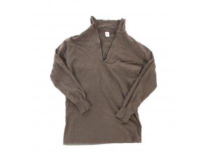 Tričko (triko) BW (Bundeswehr) oliv se zipem originál použité