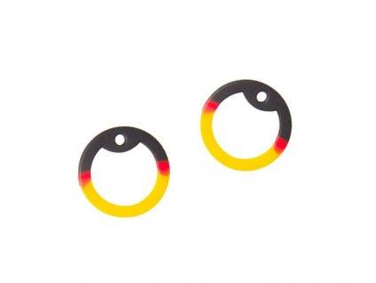 Gumička (tlumítka) silikonová k U.S. DOG TAGS černá/žlutá 1ks