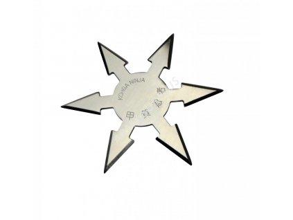Vrhací (házecí) hvězdice ninja 6 shuriken chrom