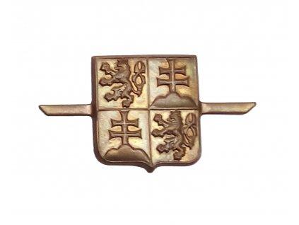 Odznak čepicový ČSFR mořený