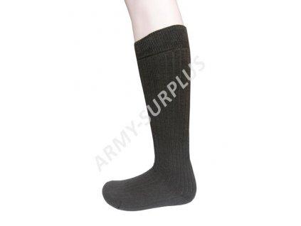 Ponožky podkolenky termo zimní teplé vlněné pružné oliv