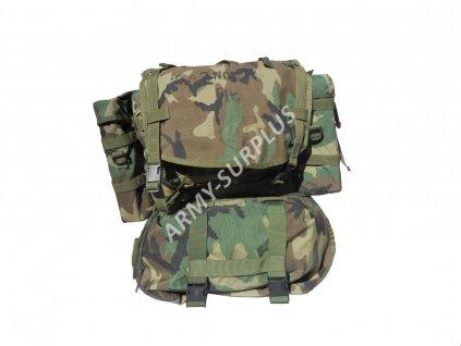 Batoh modulární  US molle II woodland originál US ARMY