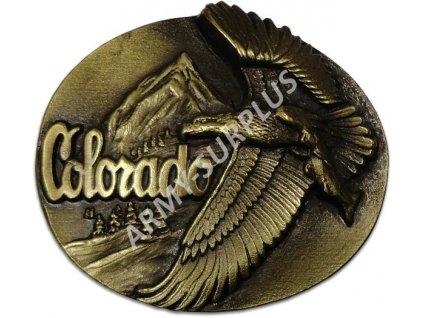 Přezka na opasek Colorado (orel) - mosaz B1344