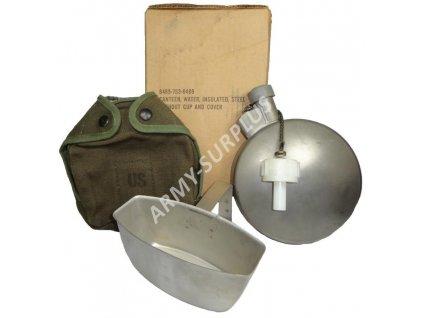 Polní láhev (čutora) US ARMY termo nerez s pitítkem a obalem (ARCTIC CANTEEN) komplet