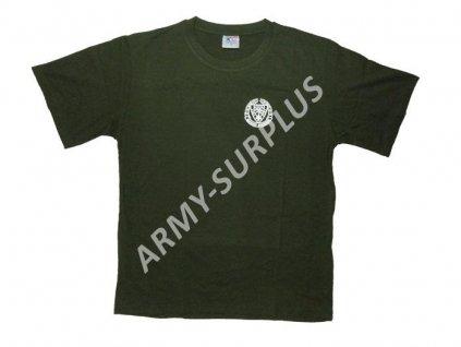 Tričko (triko) potisk Afrikakorps oliv