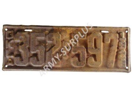 Poznávací značka na auto (License Plates) z roku 1928 USA