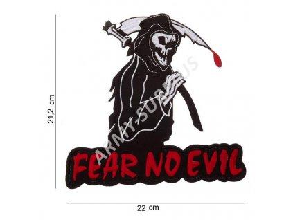 Nášivka Fear no evil nažehlovací