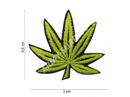 Nášivka Weed (cannabis, leaf, ganja, marihuana) - malá