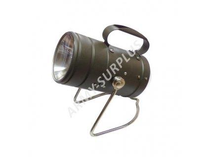 Lampa BW (Bundeswehr) VARTA Německo kovová originál oliv