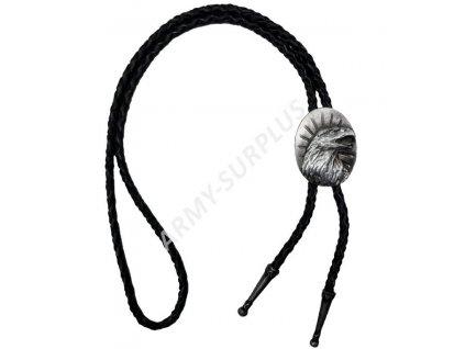 Bolo western kravata - orlí hlava na podkladu starozinek F090s