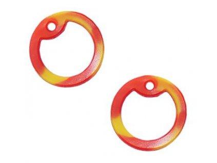 Gumička (tlumítka) silikonová k U.S. DOG TAGS červená/žlutá 1ks