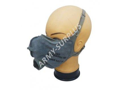 Respirátor prachový (plynová maska) US M1 šedá