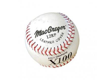 """Softballový míček 12"""" X100 kožený bílý"""