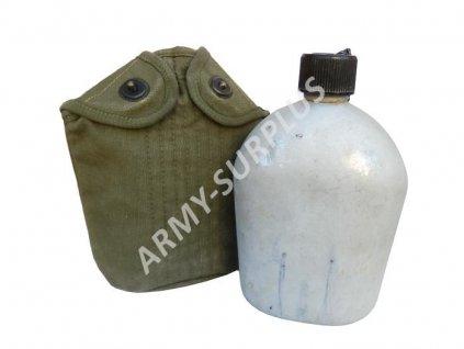 Polní láhev (čutora) s obalem US hliník válečná WWII originál