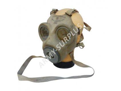 Plynová maska vz.35 Fatra k dýchacímu přístroji