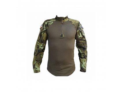 Blůza pod balistickou ochranu 2012 se zeleným potiskem (taktická košile,triko) UBACS vz.95 AČR Koutný