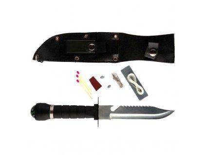 Nůž Rambo dětský Fosco černý s vybavením