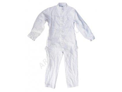 Kombinéza Velká Británie nehořlavá bílá bavlna