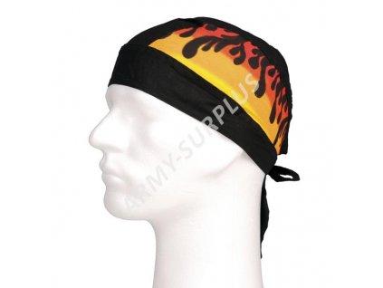 Šátek pirát (na hlavu) plameny 2 černý