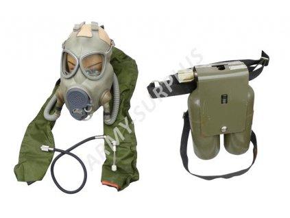 Záchranný (potápěcí) systém ZP-10 s plynovou maskou M10/M ČSLA kompletní