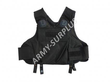 Taktická vesta Policie neprůstřelná černá Velká Británie