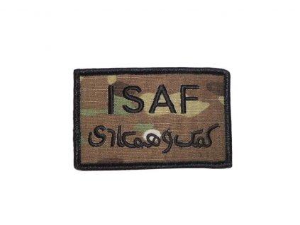 Nášivka ISAF Velcro čtvercová multicam