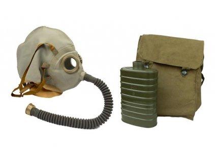 Plynová maska ŠR-2 pro zraněné na hlavě s filtrem a taškou