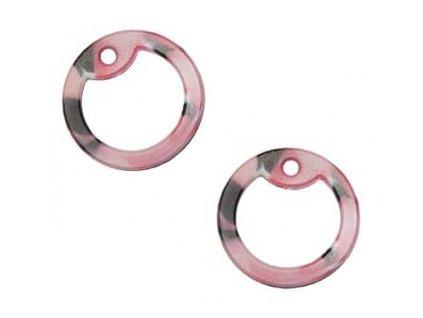 Gumička (tlumítka) silikonová k U.S. DOG TAGS růžová/černá 1ks