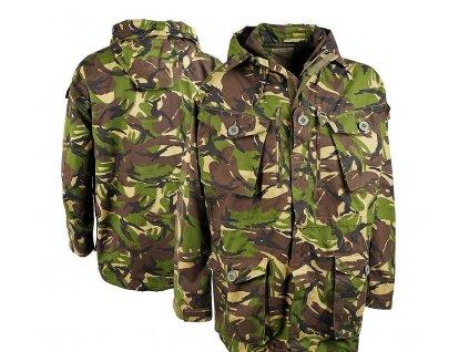 Bunda,parka britská SAS Velká Británie Smock Combat woodland DPM windproof s kapucí originál