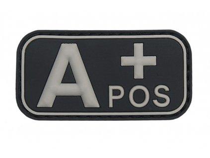 Označení krevní skupiny A+ positive 3D PVC černá