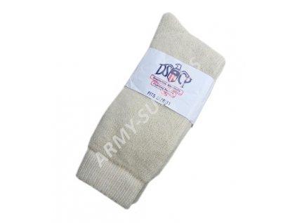 Ponožky US zimní vlněné bílé originál