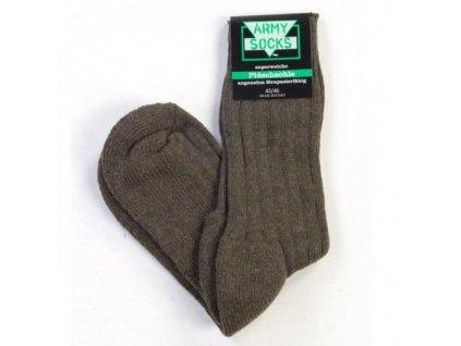 Ponožky zimní army froté