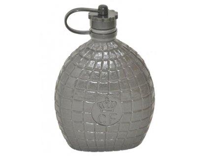 Polní láhev (čutora) Dánsko 0,7l šedá originál